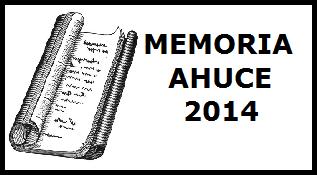 Memoria de actividades de Ahuce 2014